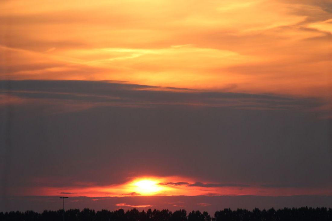 Nature Sky Sun Sunset Sunset #sun #clouds #skylovers #sky #nature #beautifulinnature #naturalbeauty #photography #landscape Sunset Silhouettes Sunset_collection