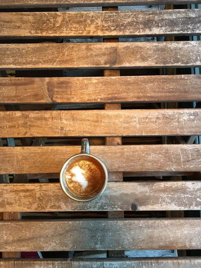 Cappuccino Close-up Coffee - Drink Coffee Cup Day Directly Above Drink Food And Drink Freshness Froth Art Frothy Drink Indoors  Latte No People Refreshment Wood - Material