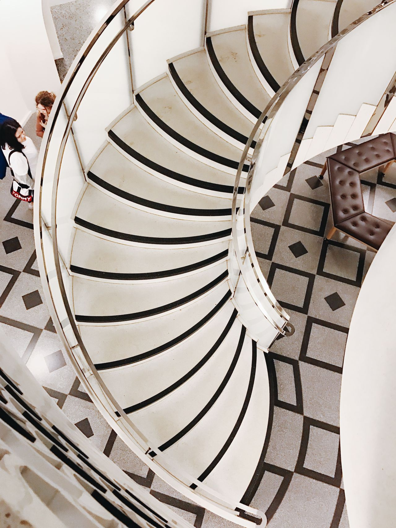 Architecture Architecture Blackandwhite Built Structure Curve Day Gallery Interior Design Minimalism Outdoors People Railing Spiral Spiral Staircase Staircase Stairs Steps Steps And Staircases