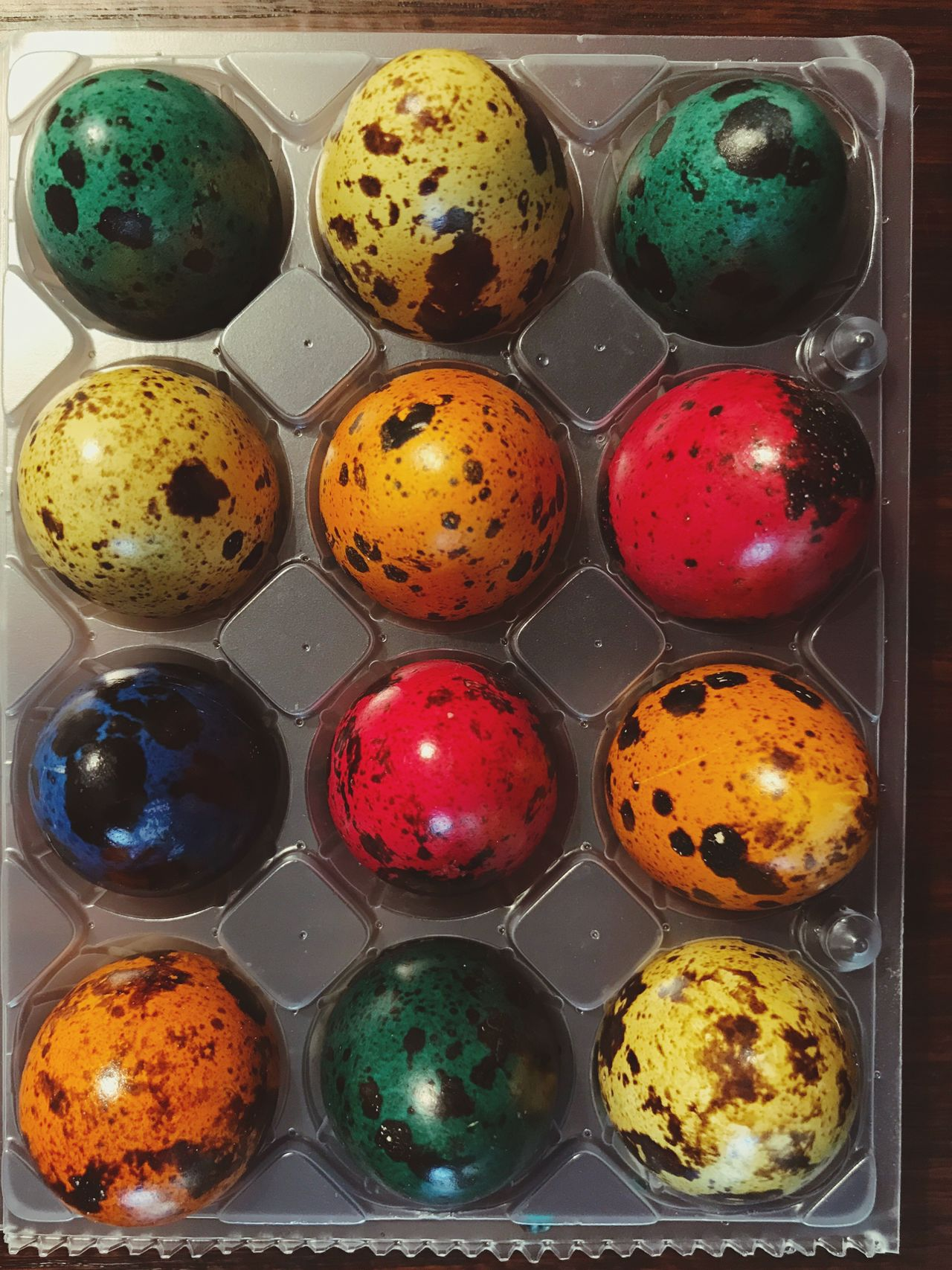 Quail Eggs Quail Egg Easter Eggs Colored Eggs Easter Variation Multi Colored In A Row Choice No People Close-up Food