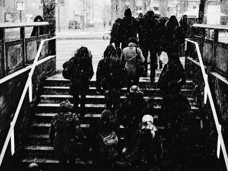 Good Morning Morning Rituals People Berlin Berlin Street Photography Berlin Photography Monochrome Blackandwhite Blackandwhite Photography Real Photography Real Life VSCO Streetphotography Stairs Stairways Real People The Street Photographer - 2016 EyeEm Awards