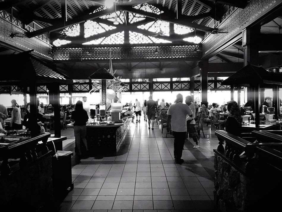 Welcome To Black Large Group Of People Restaurant Real People Tiled Floor Indoors  Women Architecture People Crowd Adults Only Adult Illuminated Day Full Length Tioman