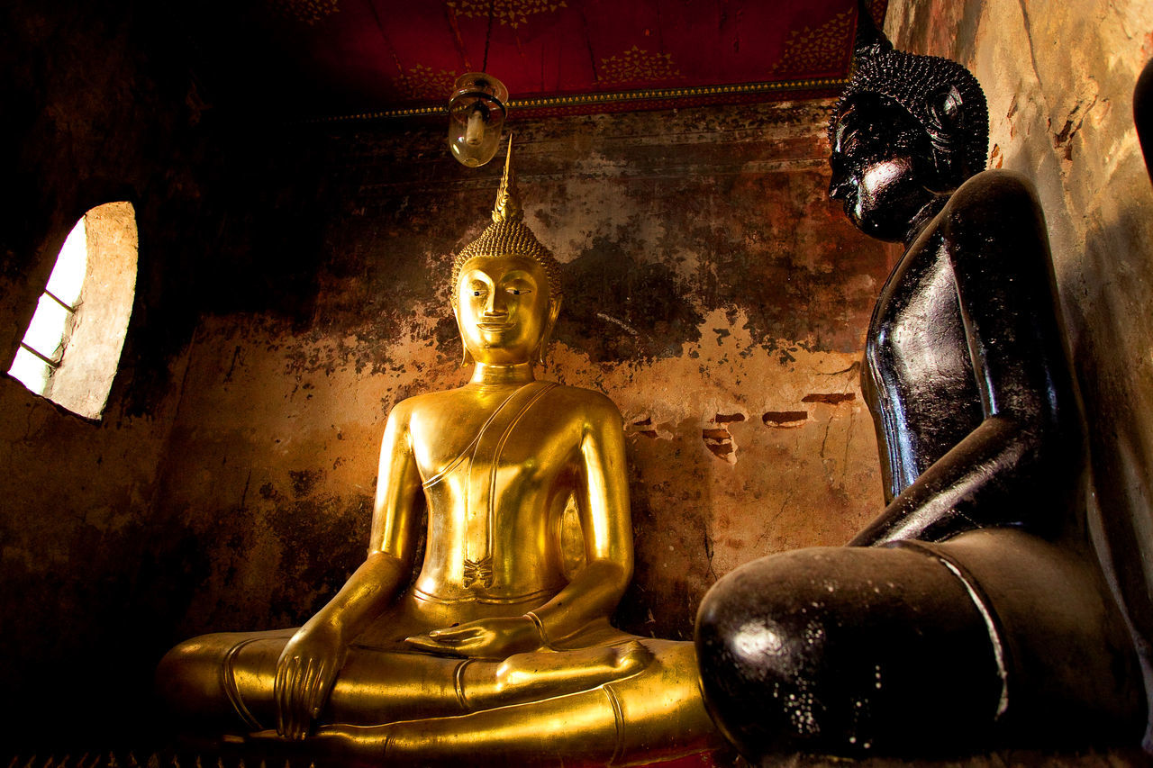 buddah Bangkok Thailand. Budism Close-up Day Gold Colored Human Representation Idol Indoors  Low Angle View Male Likeness No People Place Of Worship Relegion Religion Sculpture Spirituality Statue