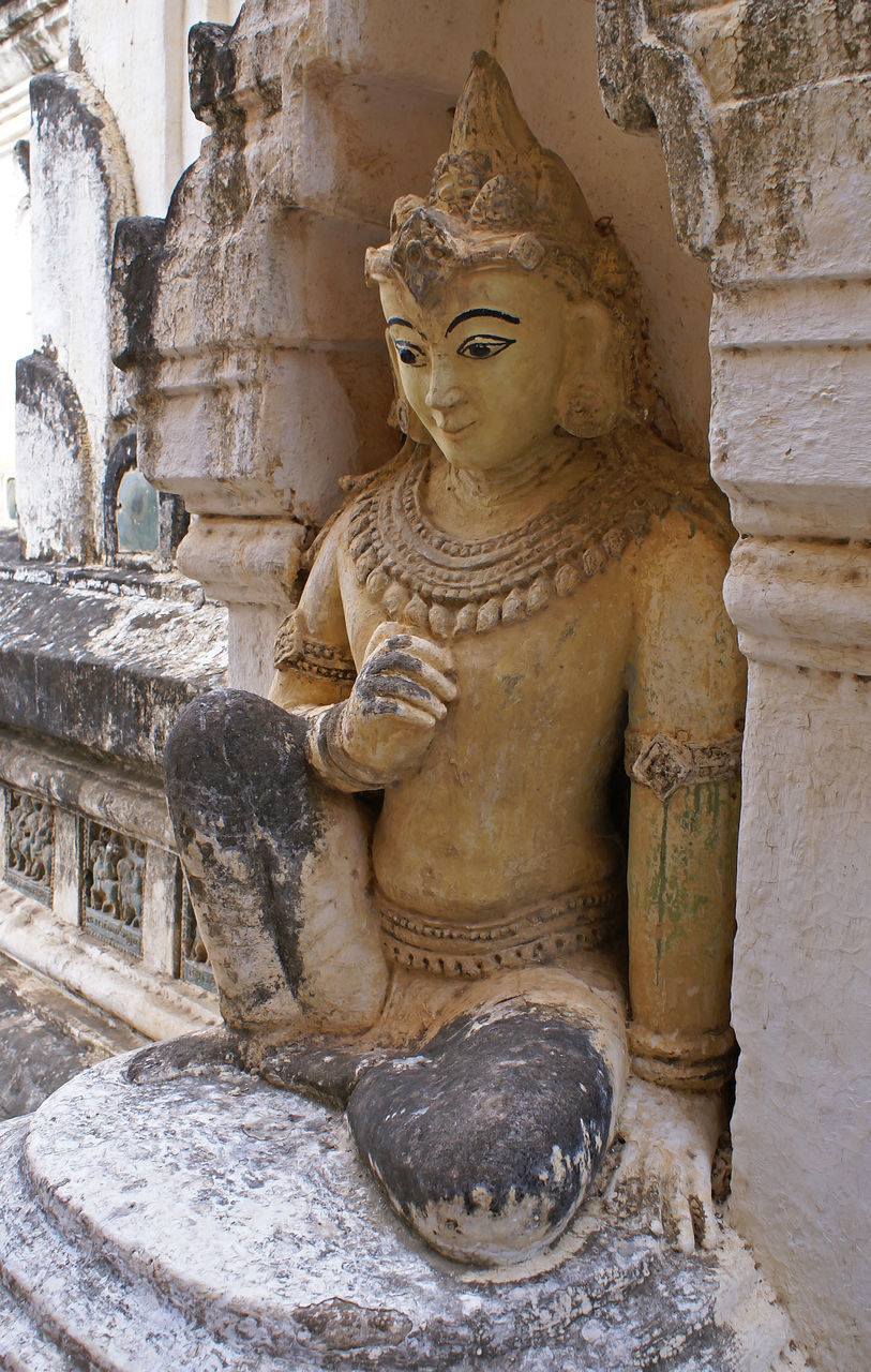 statue, spirituality, sculpture, religion, human representation, male likeness, art and craft, place of worship, stone material, no people, ancient, old ruin, idol, day, built structure, travel destinations, architecture, outdoors, ancient civilization, close-up