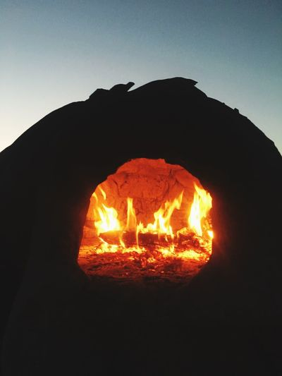 Heat - Temperature Burning No People Mountain Outdoors Clear Sky Silhouette Nature Night Bonfire Sky Close-up Beauty In Nature