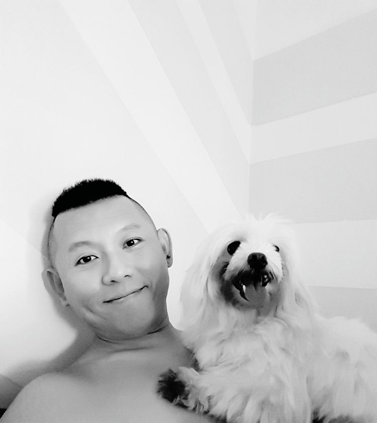 My little princess and I Taking Photos That's Me Hi! Photography Samsung S7 Edge Singapore Home Sweet Home Home Maltese Puppy❤ Dog Furbaby Black And White Blessed  Smile Puppy Eyes Love