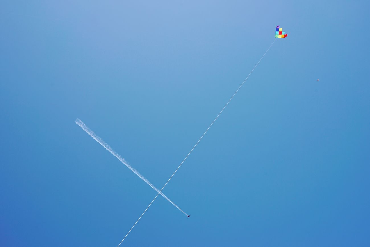 Kite and plane, Festival of the Winds, Bondi Beach, Sydney. Sydney Kite Flying A Kite Priime