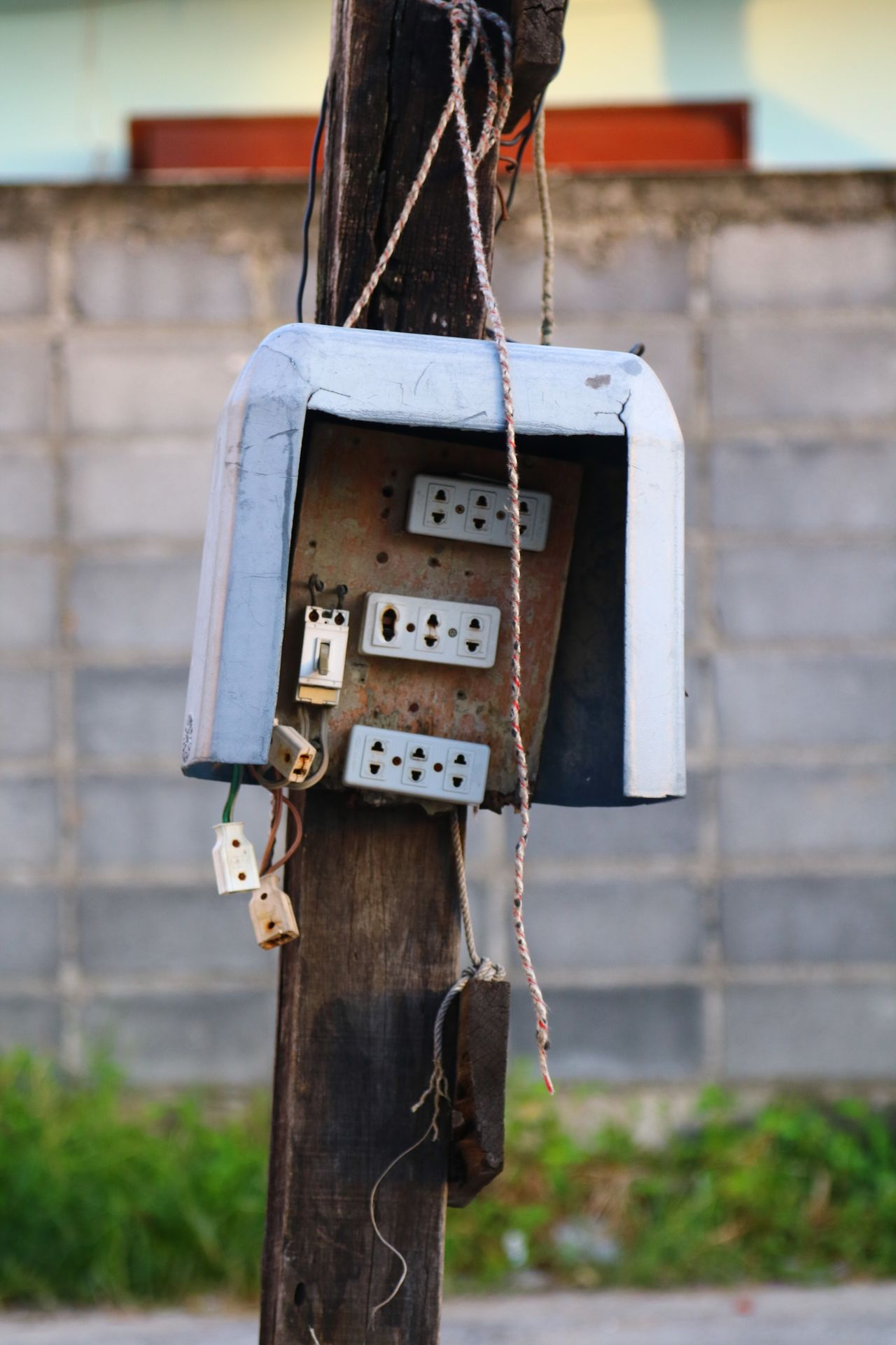 Focus On Foreground House Built Structure Architecture Day Outdoors No People Close-up Birdhouse Plugs