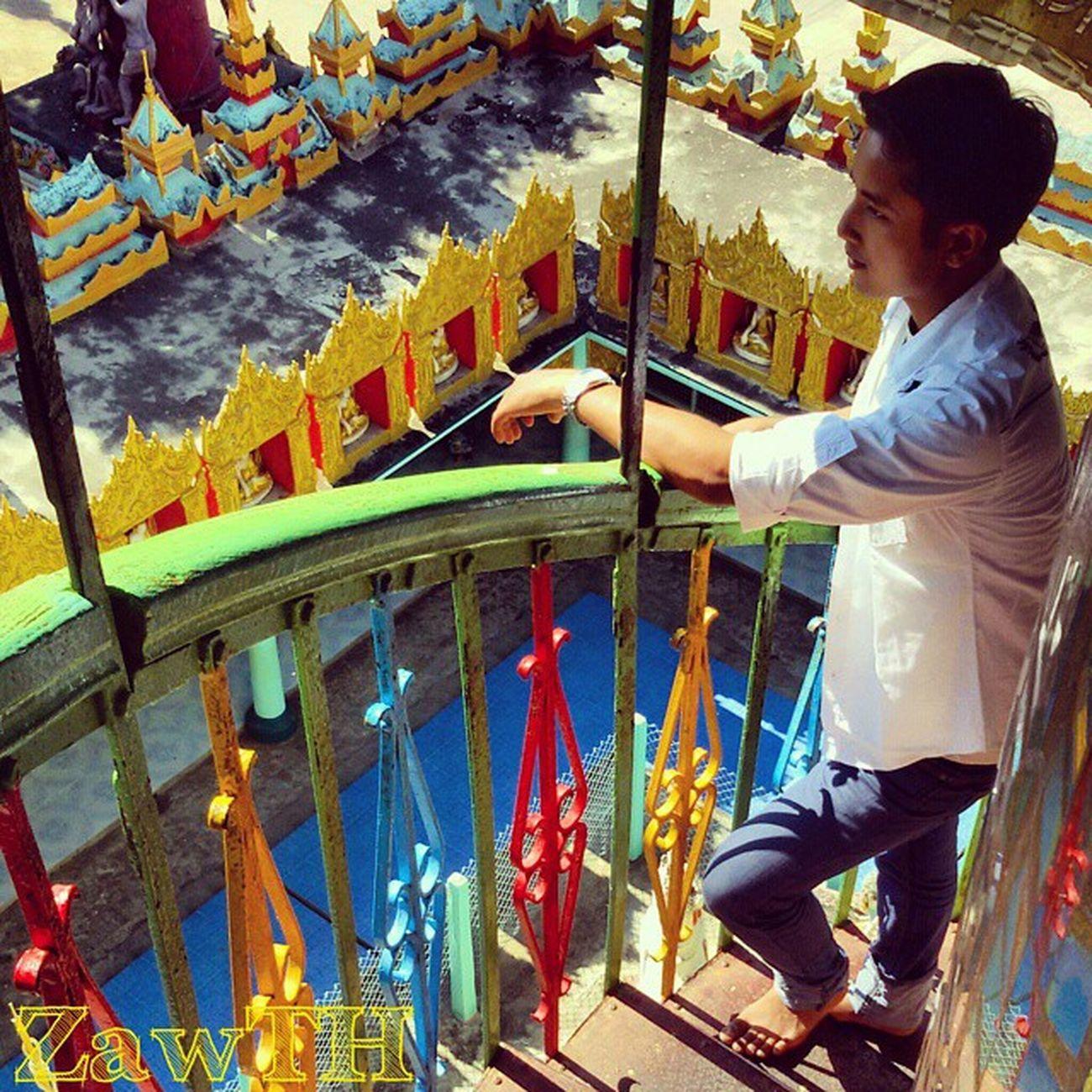 Staring from Spiral Staircase of Watch Tower. Monywa Sagaing Mandalay Myanmar Myanmarphotos Watchtower Spiralstaircase Igersmyanmar Igersmandalay Vscomyanmar Igglobal Zawth GalaxyGrand2 @nocrop_rc Rcnocrop
