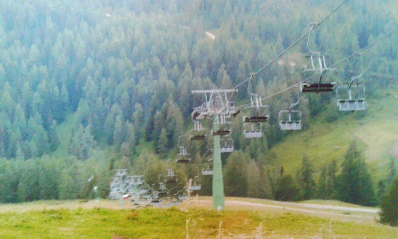 Deceptively Simple Ropeway in the Autumn.