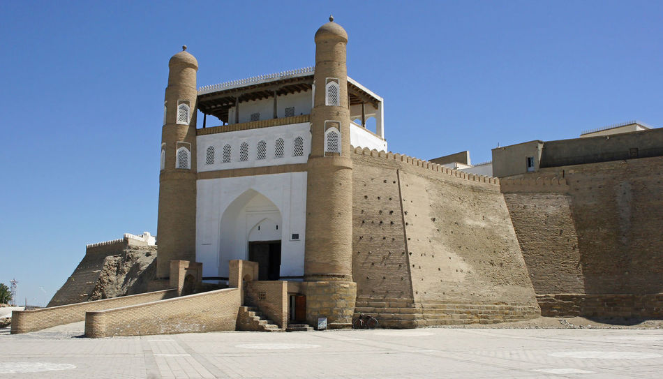 Fortress Ark, Bukhara, Uzbekistan Ancient Architecture Ark ASIA Bukhara Central Asia Citadel City Day Famous Place Fort Fortress Fortress Ark Middle East Outdoors Sights Sightseeing Silk Road Sky Tourism Tourist Attraction  Town Travel Travel Destinations Uzbekistan