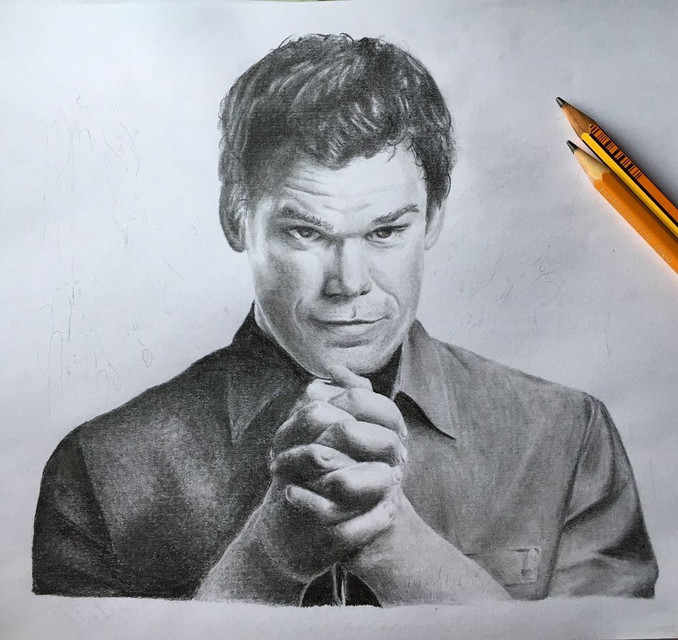 Drawing Graffite Realisticdrawing Blackandgrey Realistic Apprenticetattoo Draw Blackandgray Dexter Dexter Morgan