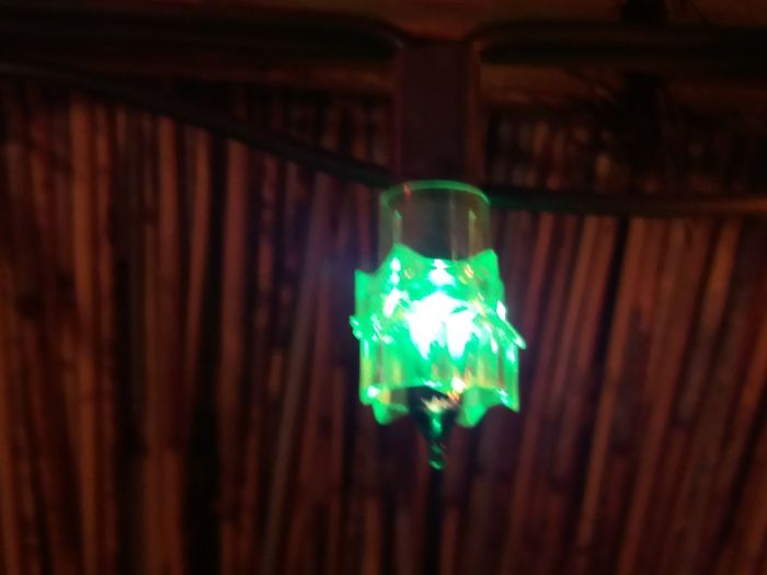 Lighting Equipment Green Color Night Close-up Christmaslights My Thatch Lapa From My Point Of View South Africa No People