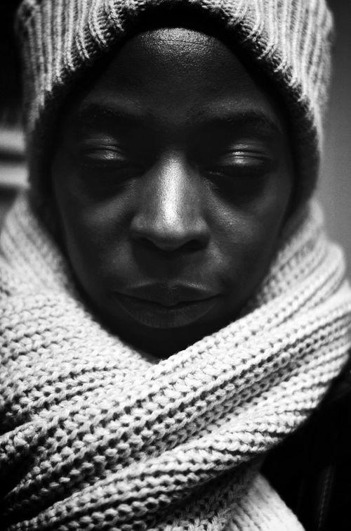 Darkness And Light Portrait Scanaki B&w B&W Portrait Faces Of EyeEm Faces Black & White Monochrome The Portraitist - 2015 EyeEm Awards D5100nikon D5100 Nikon D5100  NikonD5100 Nikonphotography Eye4photography  EyeEm Best Sellers Close-up White Scarf BlackWoman Portrait Of A Woman One Person Portrait_by_scanaki Black And White Friday