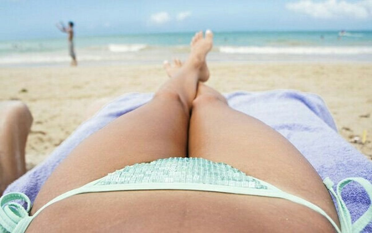 Tanning On The Beach Photography - One the beach lovely sunny day for tanning it was so hot my skin
