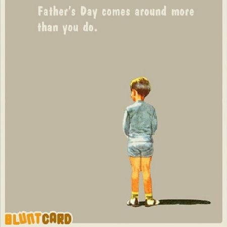 Ha! Happyfathersday ! Bluntcard