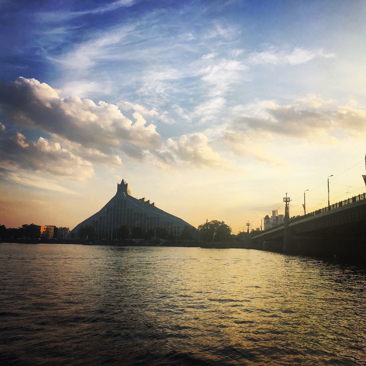 Sunset Gaismaspils LNB Library Daugava River Riverside City IPhone Photography IPhone 6s IPhoneography