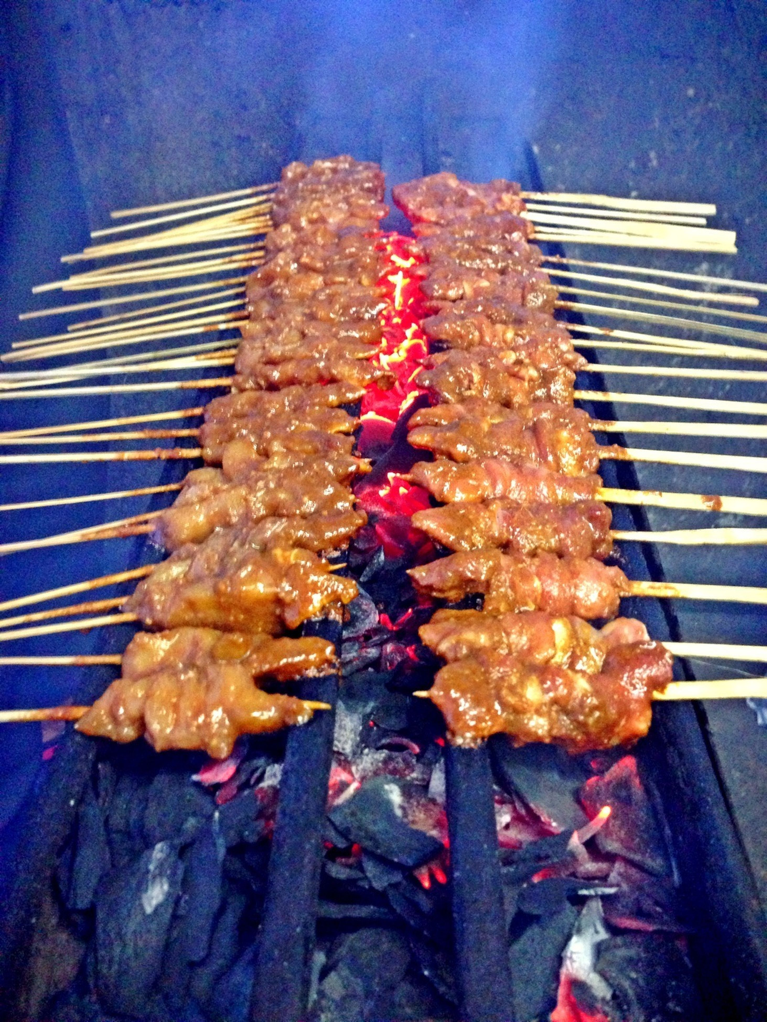 food, food and drink, freshness, grilled, barbecue grill, meat, barbecue, healthy eating, indoors, still life, preparation, roasted, heat - temperature, ready-to-eat, close-up, seafood, sausage, grill, skewer
