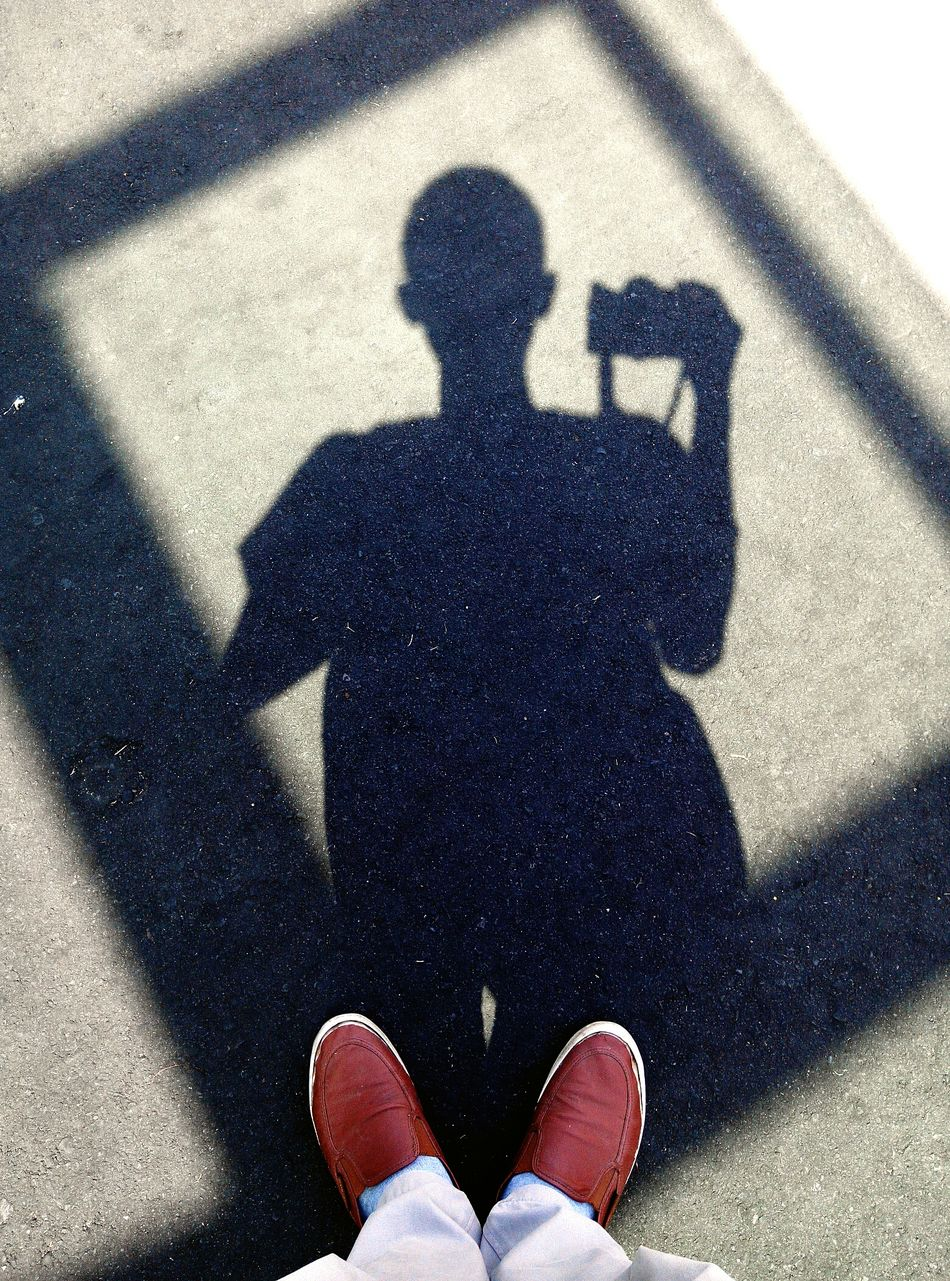 Shadow Self Portrait Around The World Selfie Time Walking Around PhonePhotography EyeEm Indonesia Bali, Indonesia