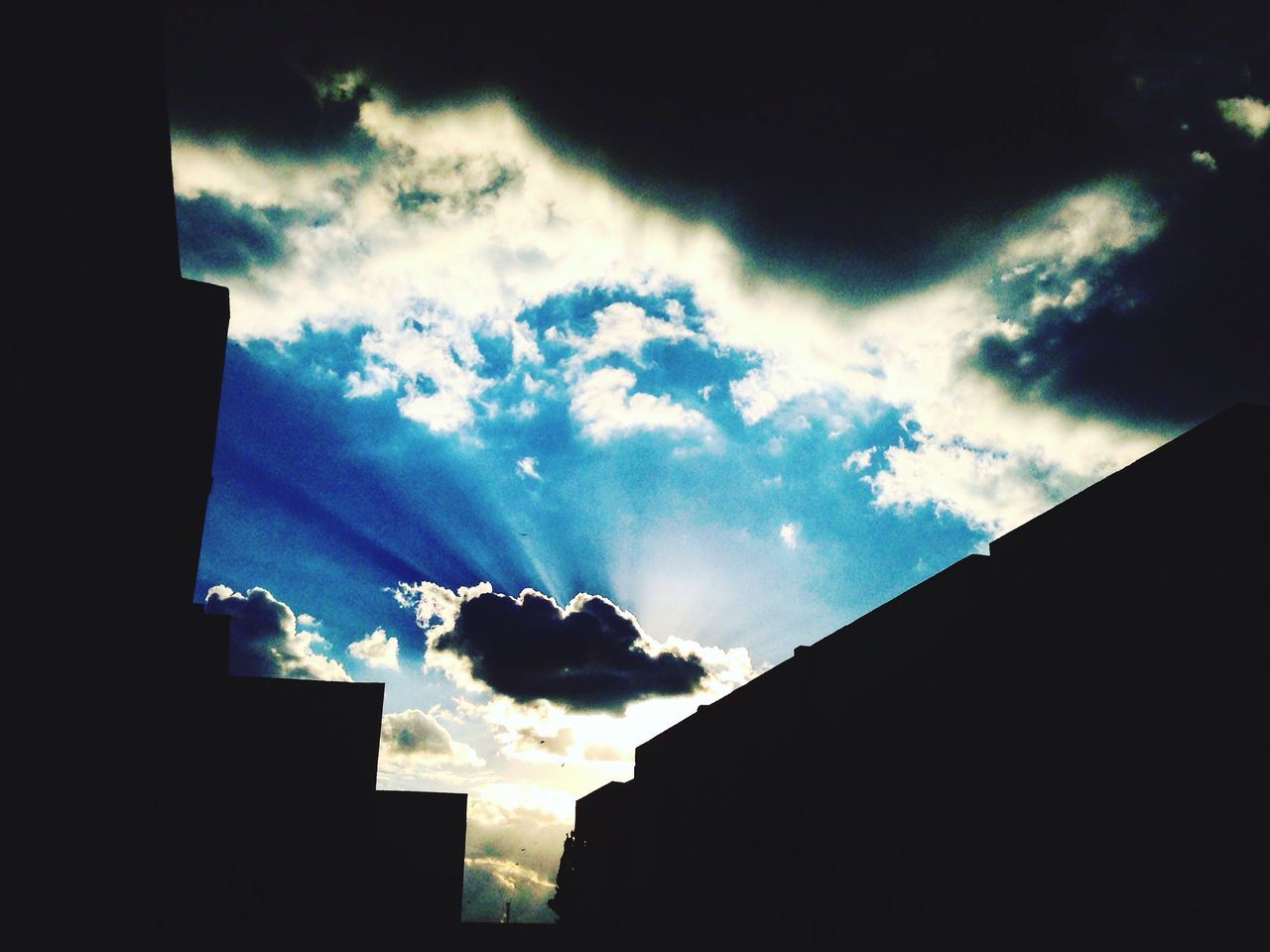 Sky Cloud - Sky Low Angle View No People Building Exterior Outdoors