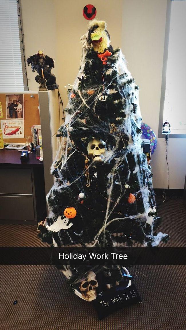 Halloween Decorations Celebrating Work Antics