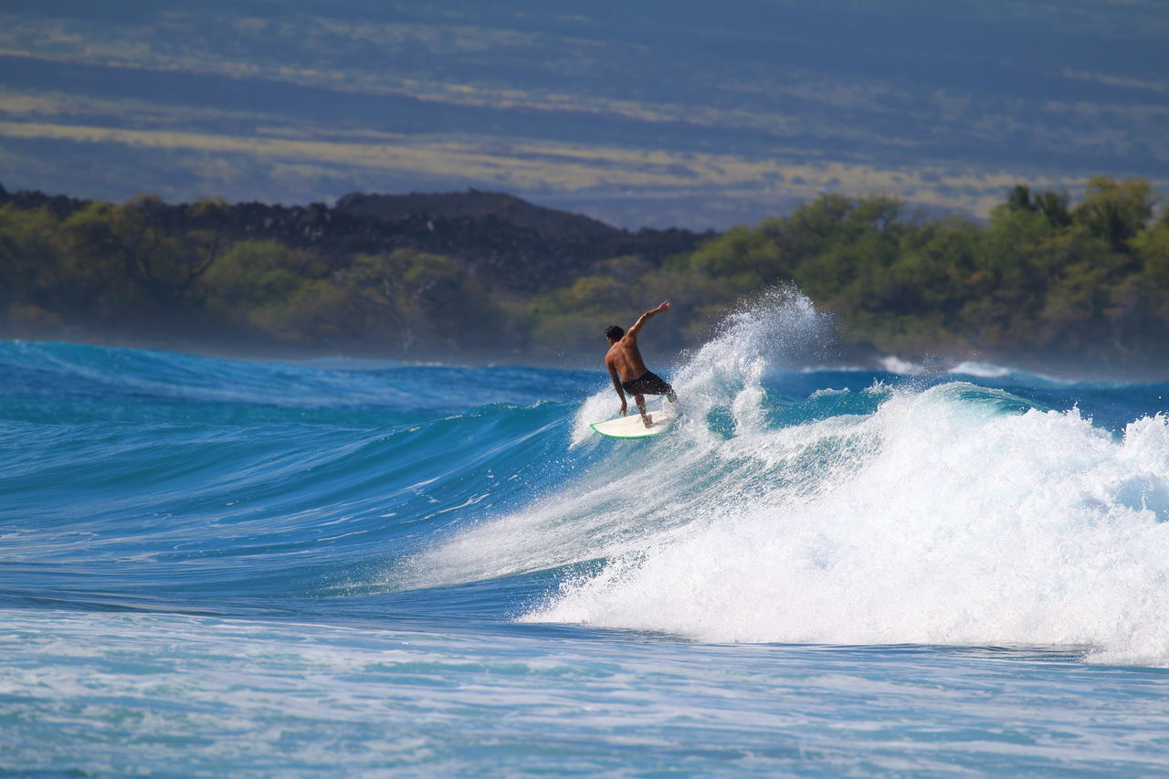 A proud moment!😎✌ Surf Surfer Surfing Nature Professional Sport Wave Courage Young Adult Sport Motion One Person Sea Landscape Splashing Men Challenge Big Island in Hawaii United States