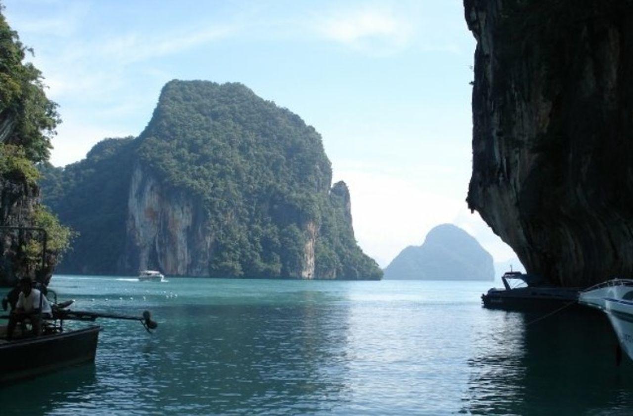 Khopihiphi Ocean Ocean View Boat Blue Sky Thailand Traveling