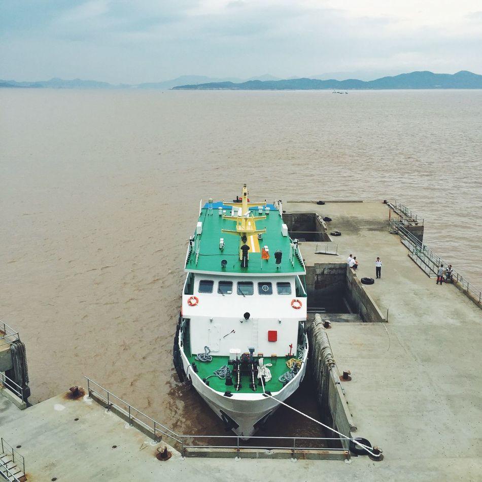 洛珈山 Ship 輪船 輪渡 碼頭 Rainy Days Vacation Time Traveling In China Zhoushan Ocean