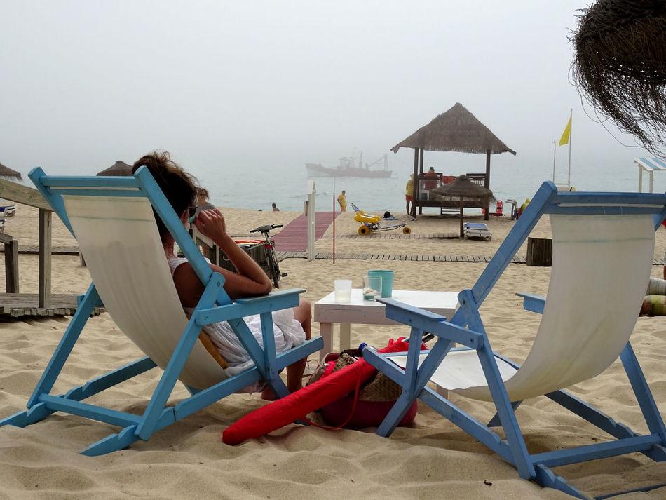 Praia do Carvalhal - Alcácer do Sal - Alentejo - Portugal Alcacer Do Sal Alentejo Beach Carvalhal Costa Alentejana Esplanada Foggy Day Mar Neblina Nebline Portugal Praia Sea Woman