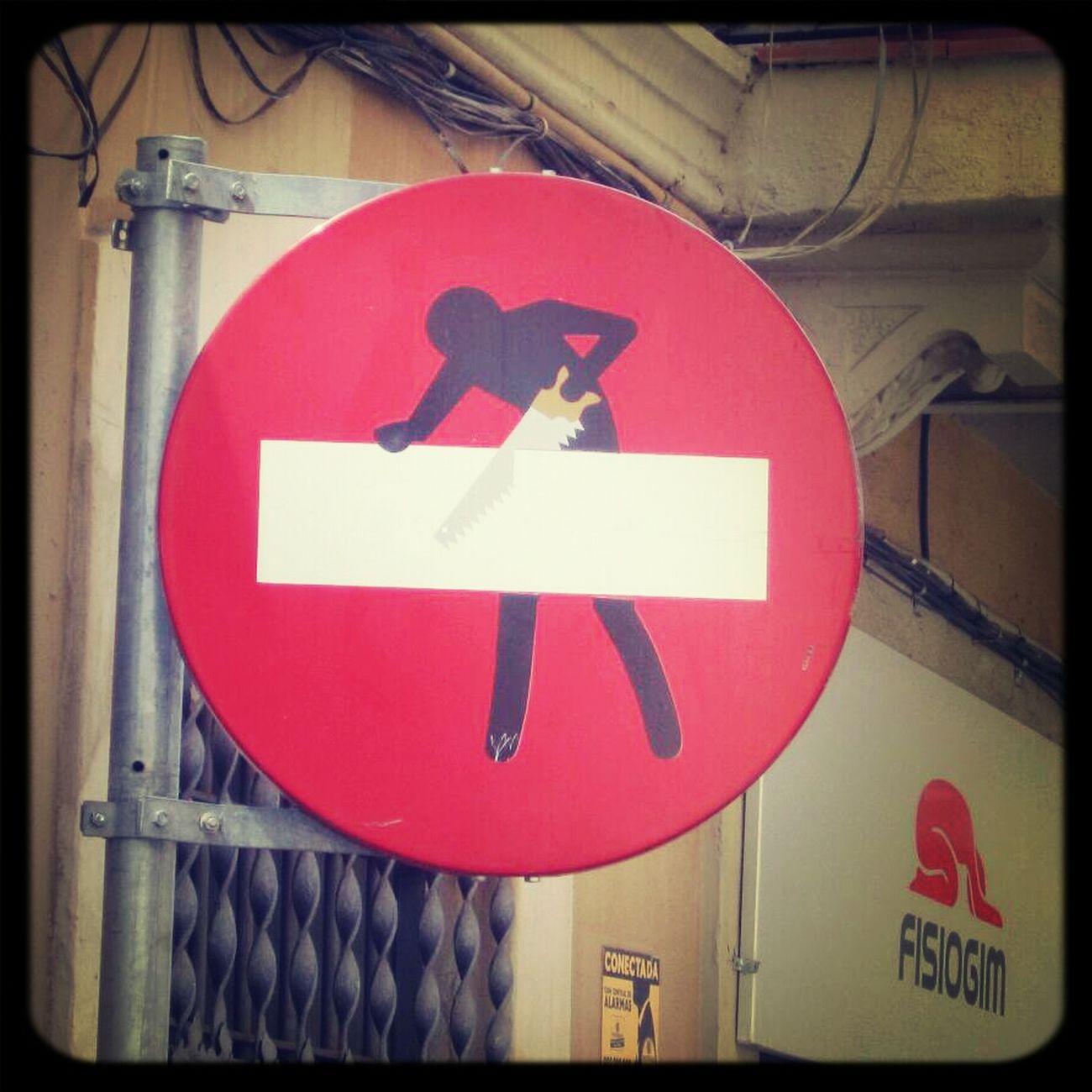 Verkehrszeichen in Barcelona