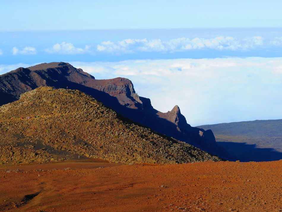 Arid Climate Beach Beauty In Nature Desert Geology Hawaii Idyllic Kilauea Landscape Maui Mountain Nature Non-urban Scene Physical Geography Remote Rock Formation Sand Sand Dune Scenics Sea Sky The KIOMI Collection Tranquil Scene Tranquility Vulcan