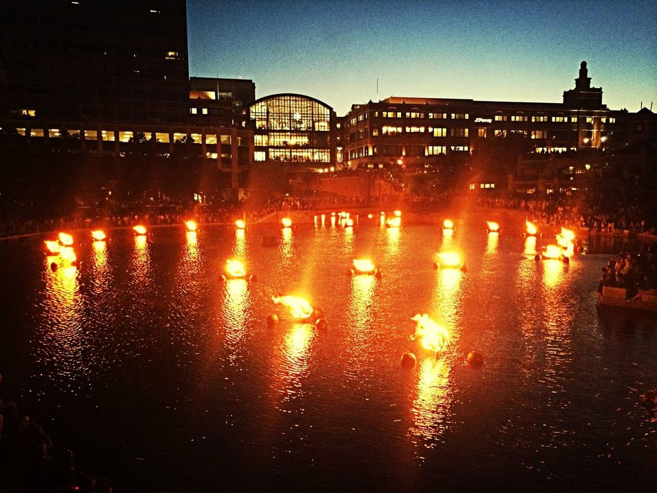 Water fire Hanging Out Relaxing