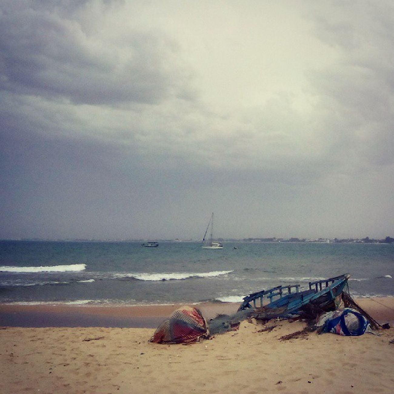 Tunesia Tunisia Sea Seaside boat clouds storm nature tagsforlikes tfl tagforlikes vacation vscovisuals vscocam mood photooftheday picoftheday planet africa
