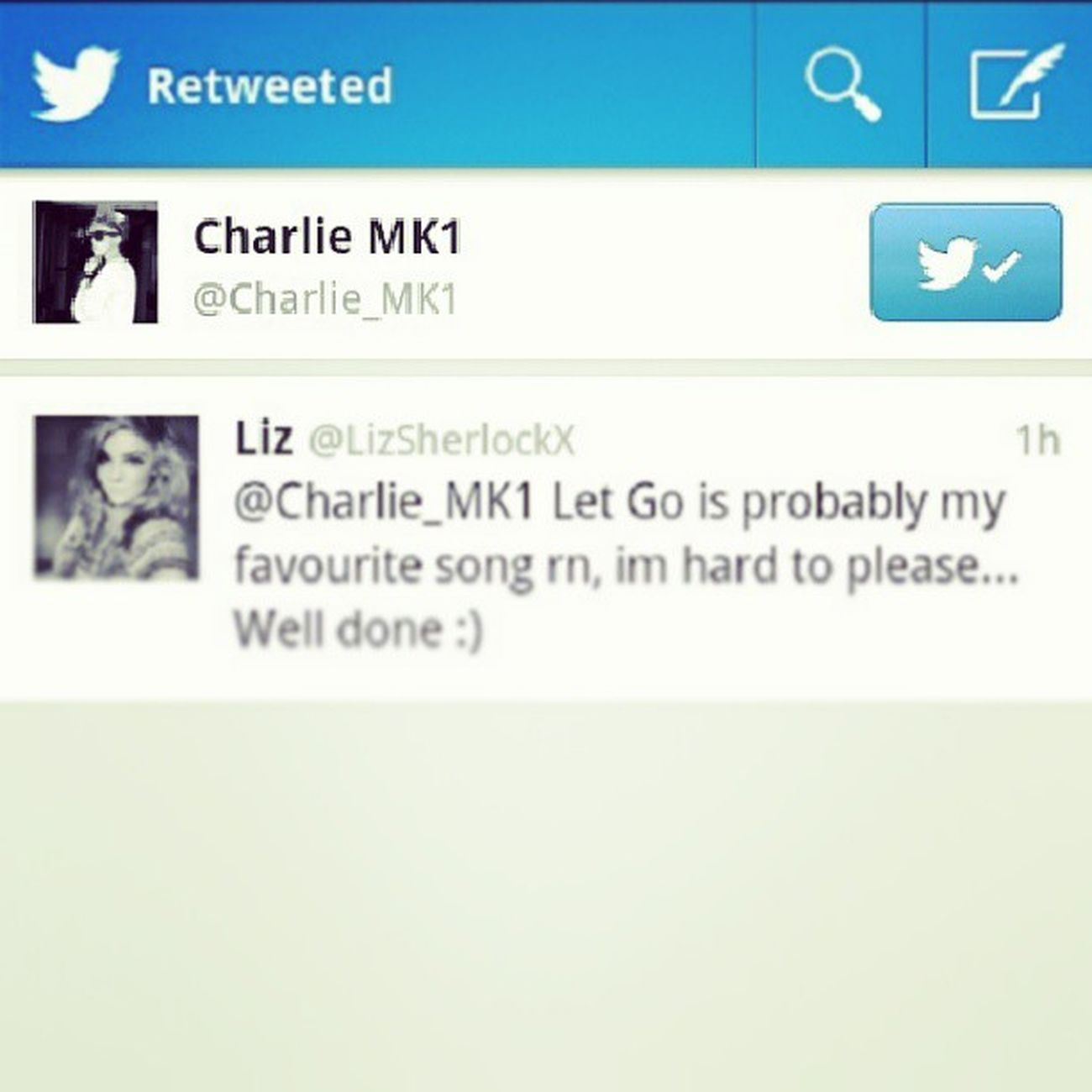 oh my god :):):):):):) I cant ksibsnwsowjjwp charlie officially knows I exist Charlierundle Mk1
