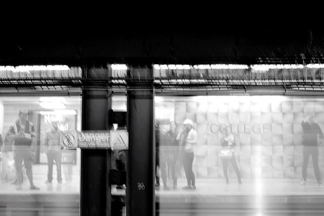 Capturing Motion Subway Subway Station Subwayphotography LongTime  Exposure Waiting Waiting For A Train Life Street Photography Streetphotography Black Blackandwhite Black And White Black & White Blackandwhite Photography Black And White Photography Station Station Platform Platform the moment when train came and no tripod :( Blurred Motion EyeEm