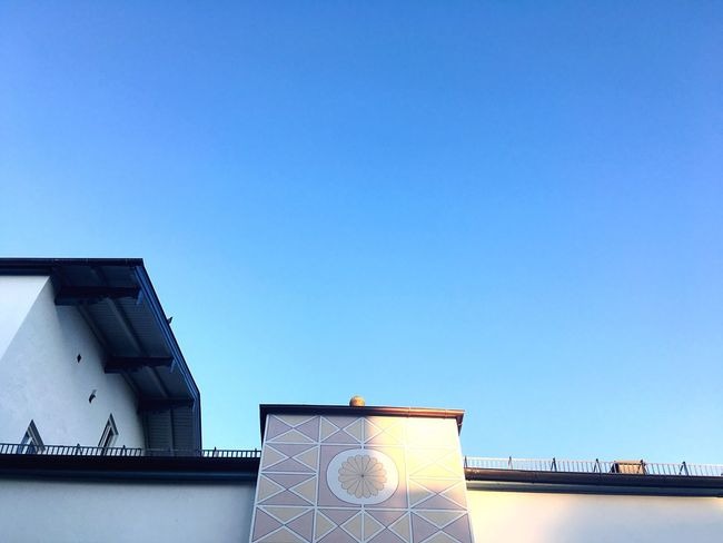 Good Morning Morning Light Morning Morning Sun Bavarian Architecture Bavaria Bad Tölz Architecture Built Structure Low Angle View Building Exterior High Section No People Blue Sky Clear Sky