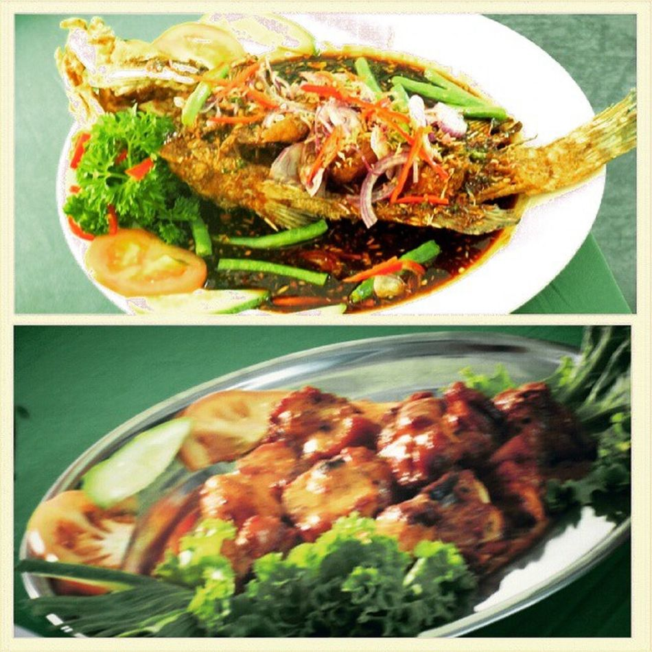 ikan grafu masak deep fried soya sauce & furtugies style chicken