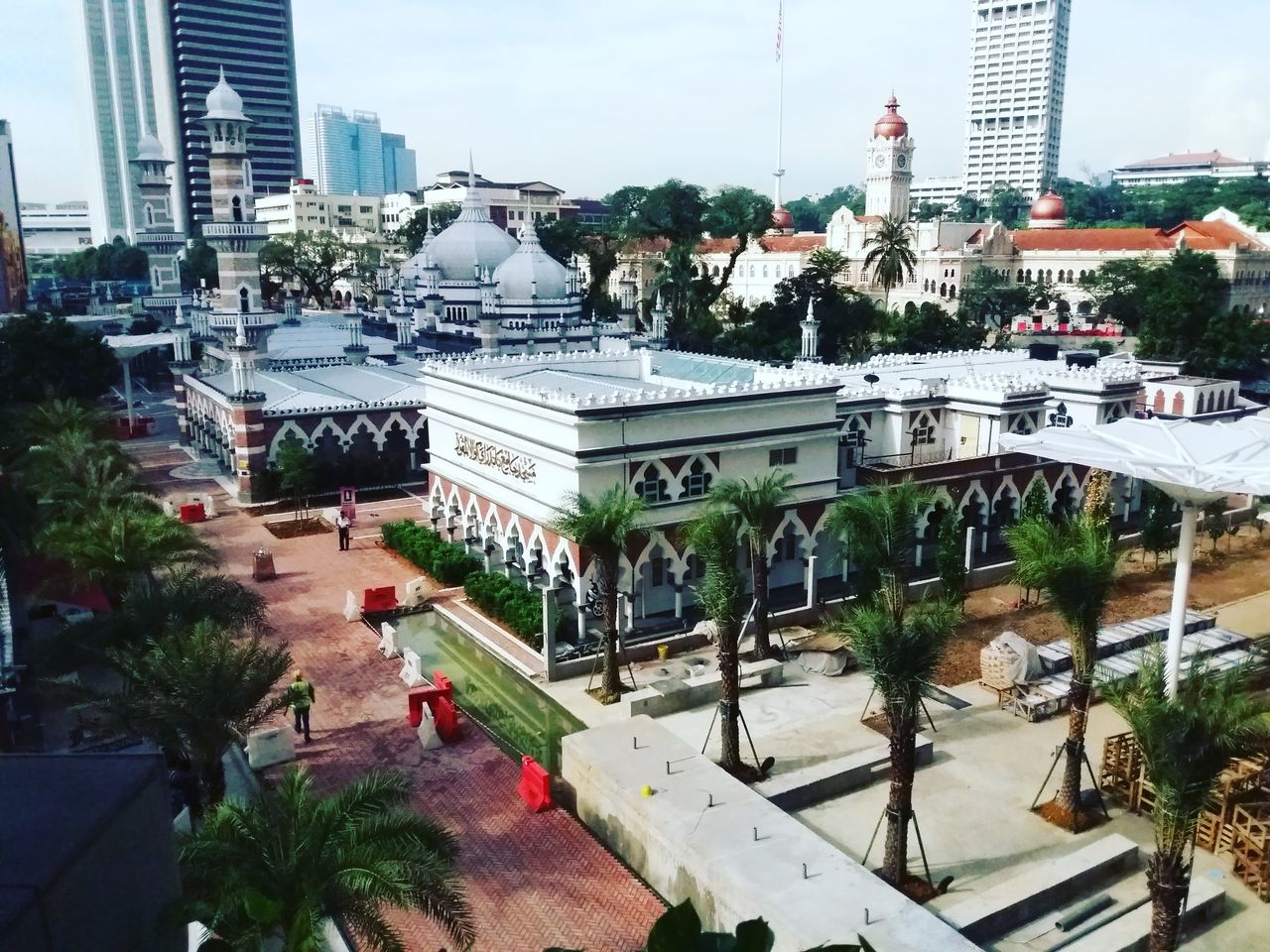 City Architecture Building Exterior Tree High Angle View Built Structure City Life Outdoors Day Sky Skyscraper Mosque Mosquephotography