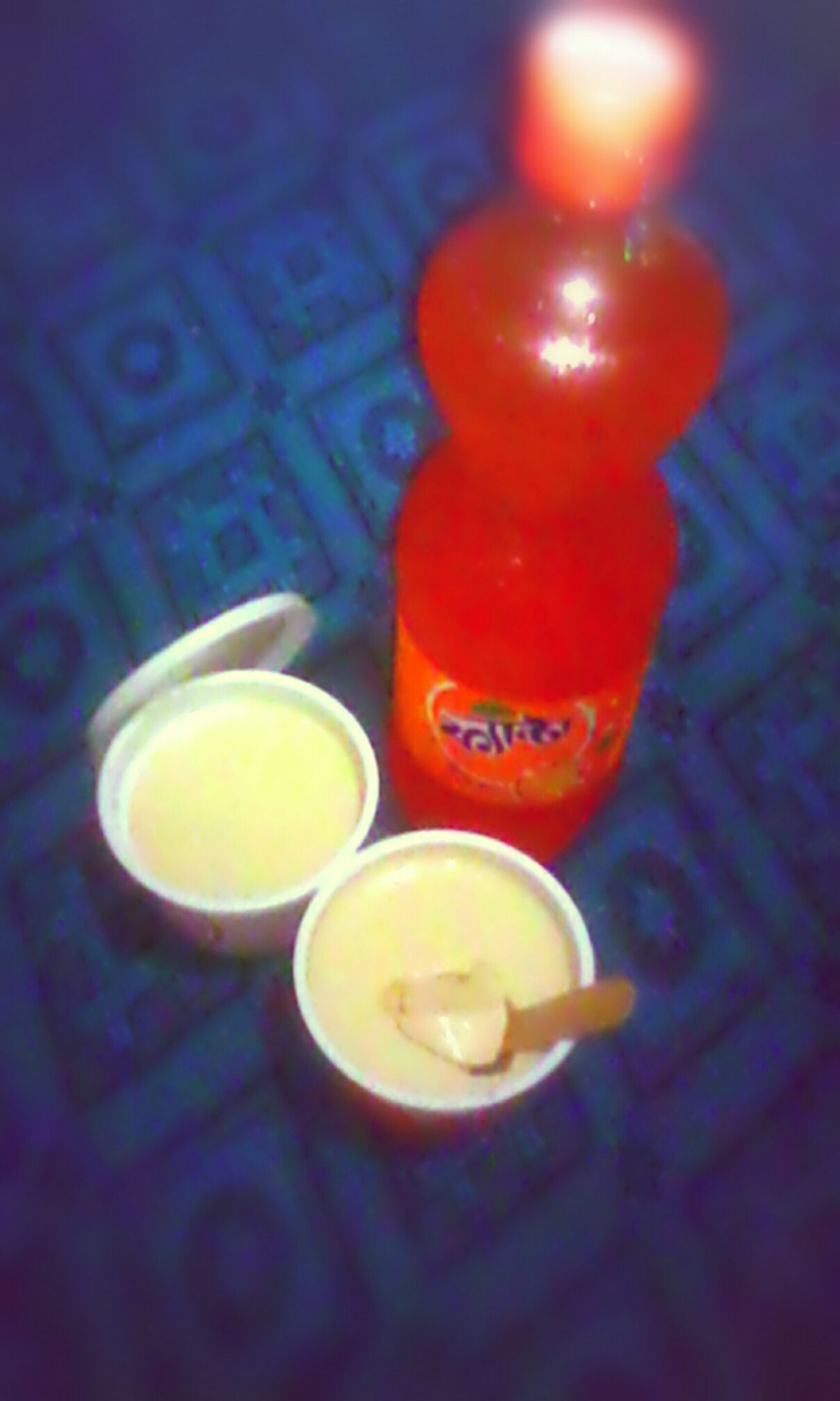 Breakfast Curd Fanta Enjoying The Food @ morning