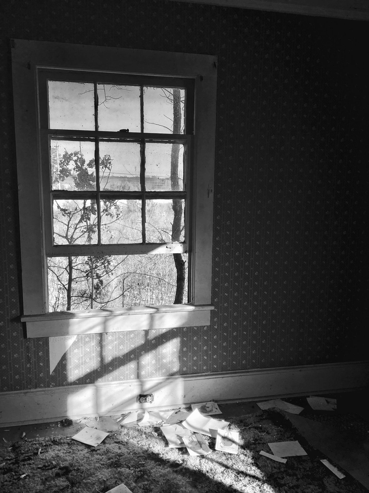 Window Indoors  Home Interior No People Day Architecture Abandoned Buildings Abandoned Places Abandoned Change Broken Nature Broken Glass Blackandwhite