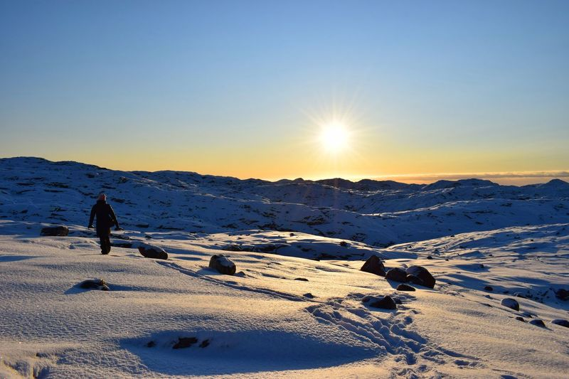 Nature Sky Innaarsuit Sky And Clouds Outdoors Amazing View Nature Photography Greenland Photography Is My Escape From Reality! Place To Be  Places You Must To See Beautiful Amateurphotography Snow Snow ❄ Unknown Woman Lost In The Landscape Connected By Travel