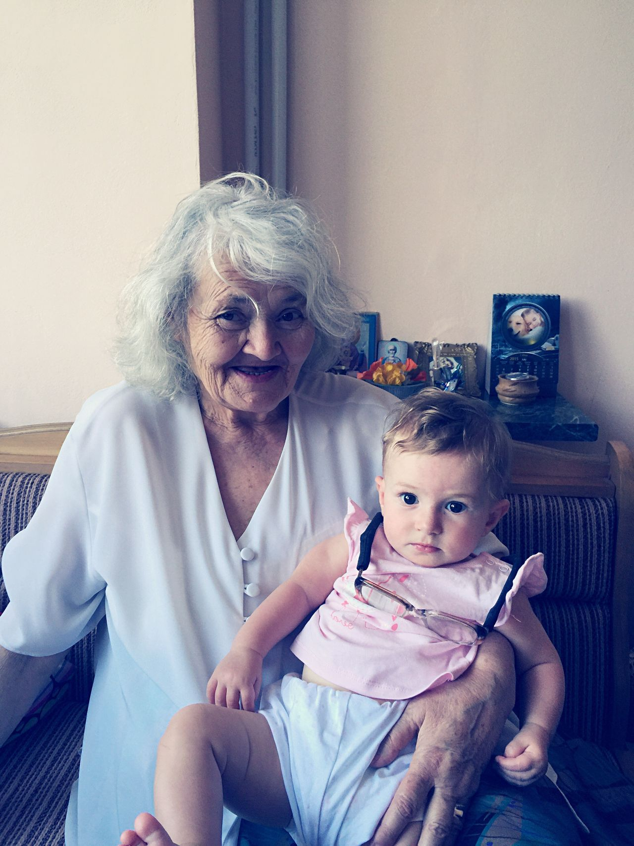 Grandmother and baby Grandmother Grandma Baby Babygirl Family Portrait Portrait Of A Woman Old Old Woman Senior Enjoying Life People Children Photography