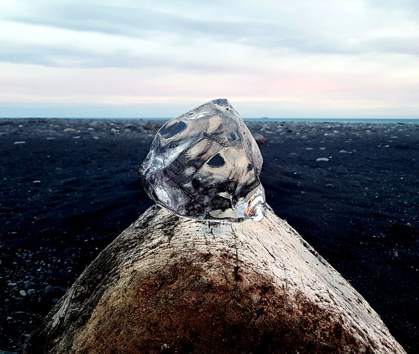 Finding New Frontiers Cloud - Sky Nature Outdoors Close-up January 2017 Iceland Diamond Beach Ice Block Unique