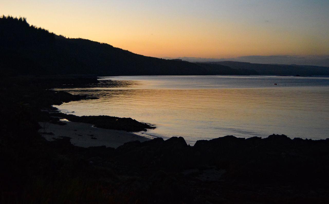Scottish Sunset Tranquil Scene Beauty In Nature Sea Dusk Scotland Scottish West Coast Carradale
