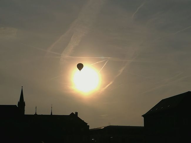 Baloon Sun Wurzburg Residence Würzburg City City Life Deutschland Geil Sky And Clouds Sunset Germany