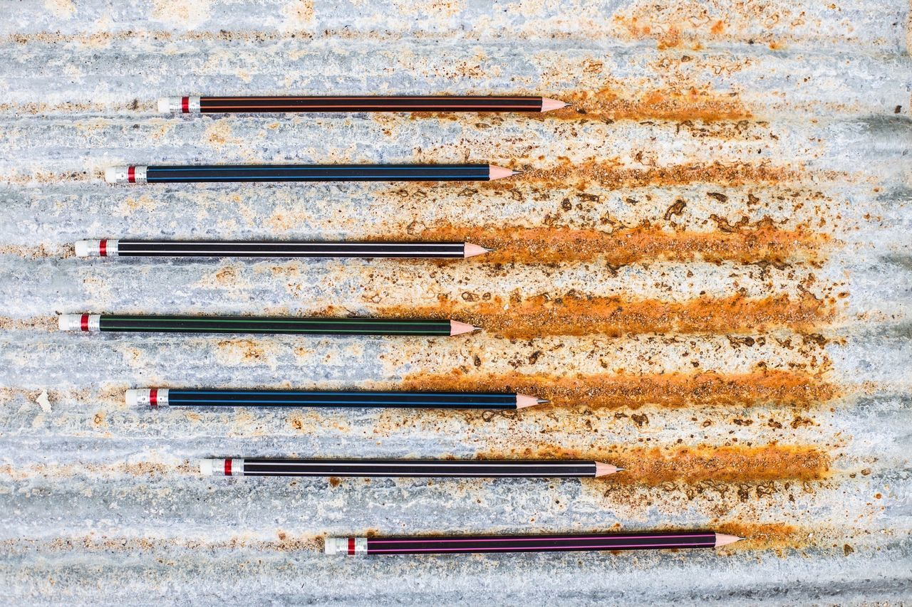 Beautiful stock photos of pencil, Abandoned, Close-Up, Corrugated Iron, Day