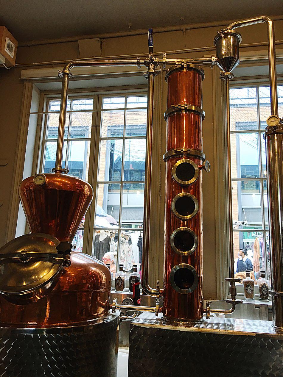 Camden Town Gin Tonic Distillery Copper  Half Hitch Distilled Spirits Alcohol Brass Metallic Shiny Condensation Pressure Gauge Glass - Material Stainless Steel  Liquid Lunch 🍻 Slàinte hic.....lol
