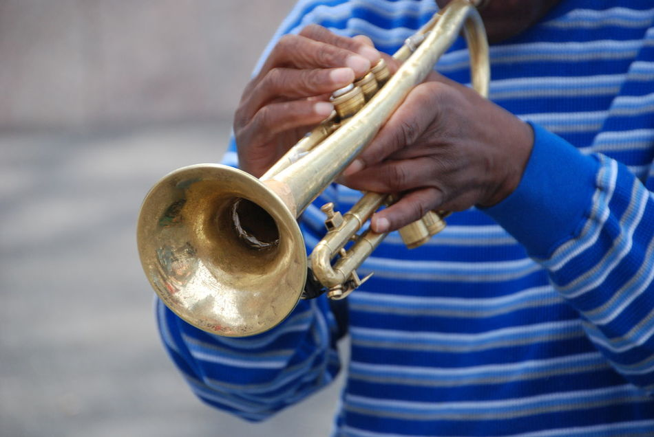 Adult Adults Only Arts Culture And Entertainment Brass Instruments Close-up Day Holding Human Body Part Human Hand Music Musical Instrument Musician One Man Only One Person Only Men Outdoors People Playing Soulful Streets Of New York City Trumpet