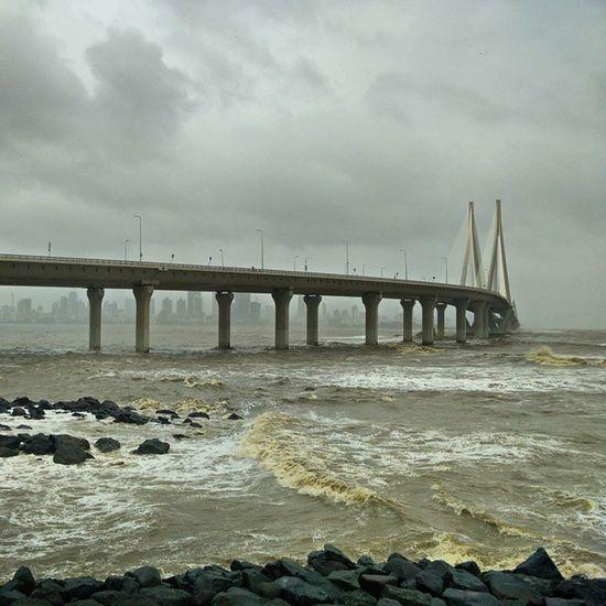 Mumbai Sea Link, Bandstand Bandra Mumbai Bandstand Bandra Worli Sea Link Bandra Overcast Ocean Onepluslife Oneplusone Oneplusphotography Oneplustech OnePlusOne📱