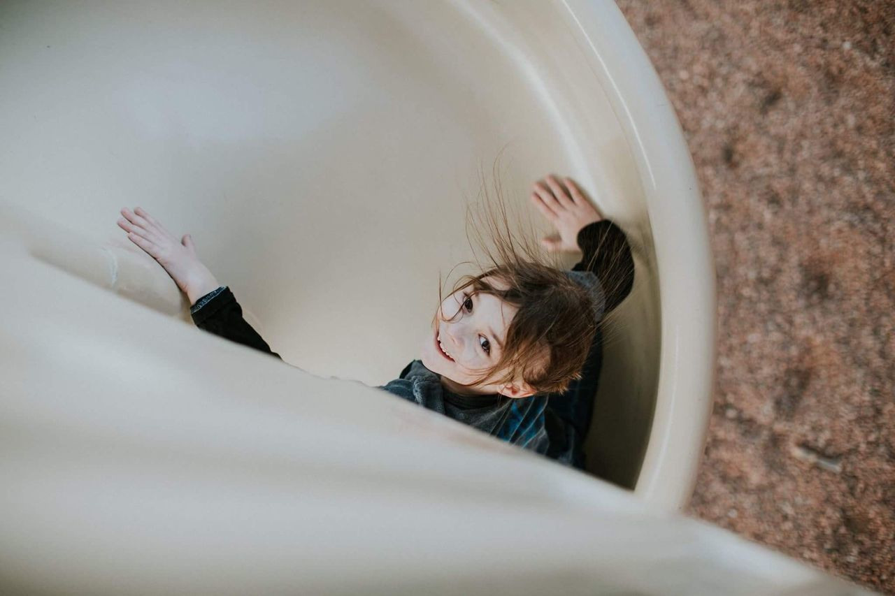 Slide fun. one person real people childhood Colorado Funny EyeEmNewHere smiling day